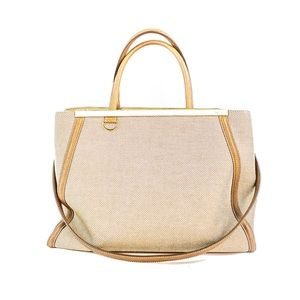 Fendi Sac 2 Jour Beige Fabric and leather